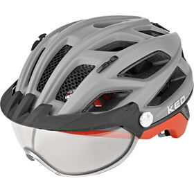 KED Covis Photocromatic Casque, grey/red matte